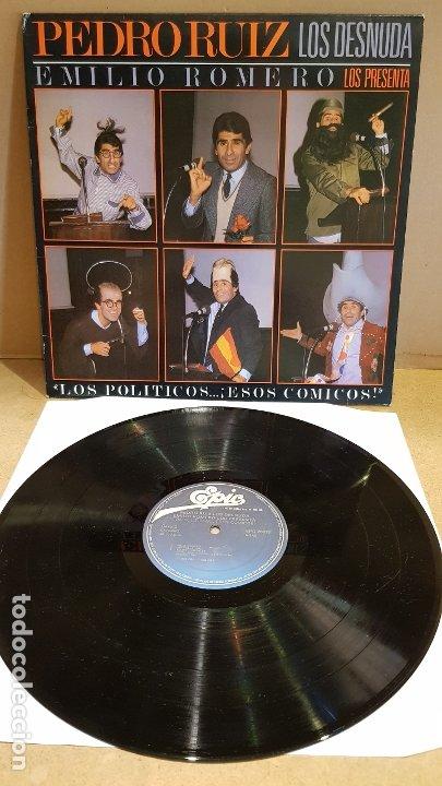 PEDRO RUIZ LOS DESNUDA / LOS POLÍTICOS...ESOS CÓMICOS ! LP - EPIC-1984 / MBC. ***/*** (Música - Discos - LP Vinilo - Solistas Españoles de los 70 a la actualidad)