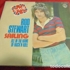 Discos de vinilo: ROD STEWART – SAILING - SINGLE 1975. Lote 178131193