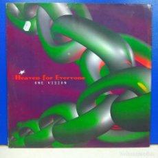 Discos de vinilo: MAXI SINGLE DISCO VINILO ONE VISION HEAVEN FOR EVERYONE. Lote 178134759