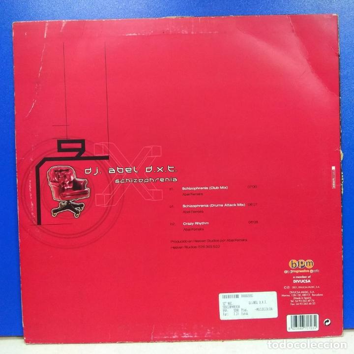 Discos de vinilo: MAXI SINGLE DISCO VINILO DJ ABEL DXT SCHIZOPHRENIA - Foto 2 - 178136474