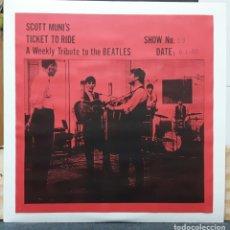 Discos de vinilo: BEATLES - SCOTT MUNI'S TICKET TO RIDE - DOBLE LP PARA LA RADIO - RARISIMO - 1985 - NO CORREOS. Lote 178139379