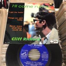 Discos de vinilo: CLIFF RICHARD / I'LL COME RUNNIN' + 3 (EP 1967). Lote 178141137