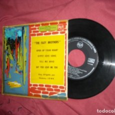 Discos de vinilo: THE ISLEY BROTHERS EP OPEN UP YOUR HEART 1960 RCA SPA VER FOTOS RARO Y DIFICIL EP. Lote 178149160