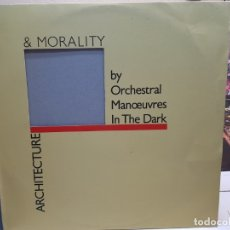 Discos de vinilo: LP-ARCHITECTURE & MORALITY-BY ORCHESTRAL MANOEUVRES IN THE DARK EN FUNDA ORIGINAL 1981. Lote 178152294