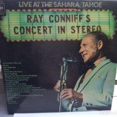 Discos de vinilo: DOBLE LP-RAY CONNIF'S-CONCIERTO EN DIRECTO DESDE EL SAHARA EN FUNDA ORIGINAL 1970. Lote 178152604
