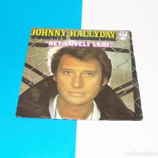 Discos de vinilo: JOHNNY HALLYDAY ---HEY LOVELY LADY & LA FILLE DE LÉTE DERNIER. Lote 178153424