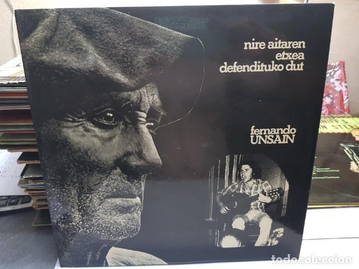 LP-FERNANDO UNSAIN-NIRE AITAREN ETXEA DEFENDITUKO DUT EN FUNDA ORIGINAL 1976 (Música - Discos - LP Vinilo - Cantautores Españoles)
