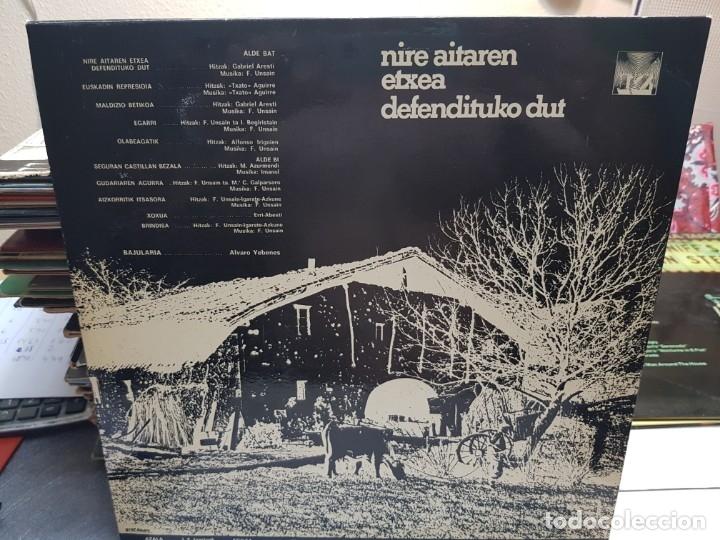 Discos de vinilo: LP-FERNANDO UNSAIN-NIRE AITAREN ETXEA DEFENDITUKO DUT en funda original 1976 - Foto 2 - 178153610
