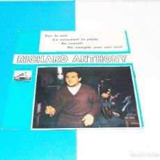 Discos de vinilo: RICHARD ANTHONY ---SUR LE TOIT + 3 AÑO 1963. Lote 178155609