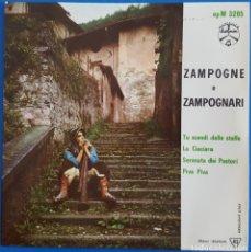 Discos de vinilo: EP / ZAMPOGNE E ZAMPOGNARI / TU SCENDI DALLE STELLE - LA CIOCIARA - SERENATA DEI PASTORI - PIVA PIVA. Lote 178156413