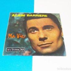Discos de vinilo: ALAIN BARRIERE --- MA VIE & ADIEU LA BELLE & UN ETE AÑO 1964 ----MINT ( M ). Lote 178156762