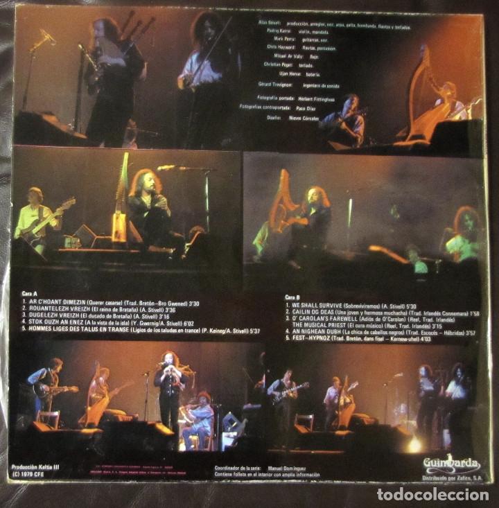 Discos de vinilo: Alan Stivell. Tro ar bed (En directo). Guimbarda GS-11.035. España, 1979. - Foto 2 - 178159172