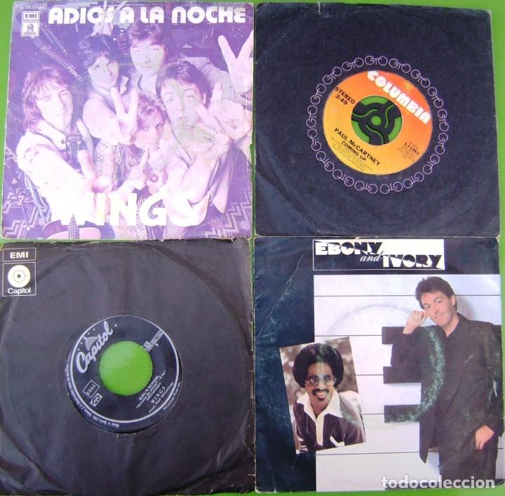 LOTE DE 4 SINGLES DE PAUL MCCARTNEY (THE BEATLES) (Música - Discos - Singles Vinilo - Pop - Rock Extranjero de los 50 y 60)