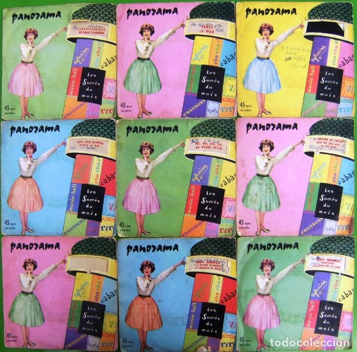 LOTE 9 SINGLES FRANCESES PANORAMA (LES SUCCES DU MOIS) (FRANCE ANNEES 60) (Música - Discos - Singles Vinilo - Canción Francesa e Italiana)