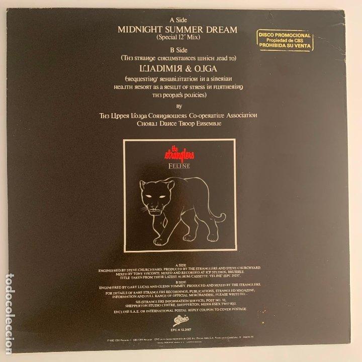 Discos de vinilo: maxi disco vinilo 12 The Stranglers Midnight Summer Dream primera edicion española de 1983 - Foto 2 - 178114984