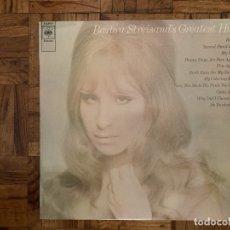 Discos de vinilo: BARBRA STREISAND – BARBRA STREISAND'S GREATEST HITS SELLO: CBS – S 63921 FORMATO: VINYL, LP, COMP. Lote 178180511