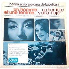 Discos de vinilo: SINGLE BANDA SONORA ORIGINAL DE UN HOMBRE Y UNA MUJER DE 1966. Lote 178196161