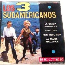 Discos de vinilo: SINGLE DE LOS 3 SUDAMERICANOS 1966. Lote 178196893