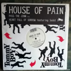 Discos de vinilo: HOUSE OF PAIN – PASS THE JINN / HEART FULL OF SORROW US 1996 DJ LETHAL CYPRESS HILL. Lote 178208275