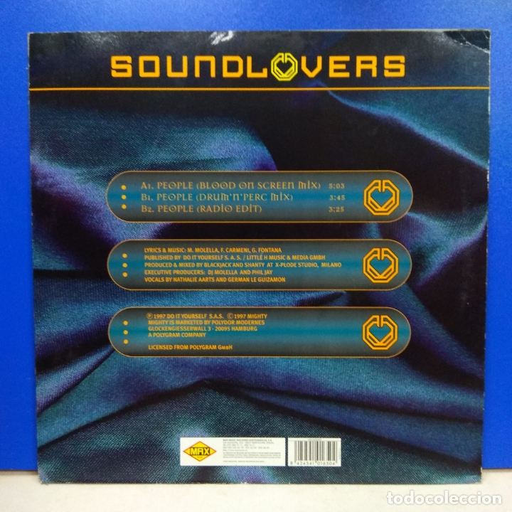 Discos de vinilo: MAXI SINGLE DISCO VINILO SOUNDLOVERS PEOPLE - Foto 2 - 178216688
