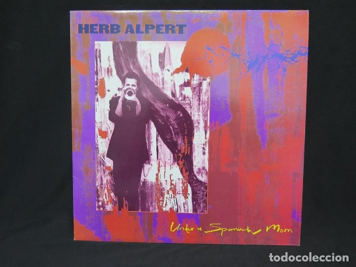 Discos de vinilo: HERB ALPERT - UNDER A SPANISH MOON (LP-Vinilo) AÑO 1988, COMO NUEVO-CALIDAD - Foto 3 - 178216845