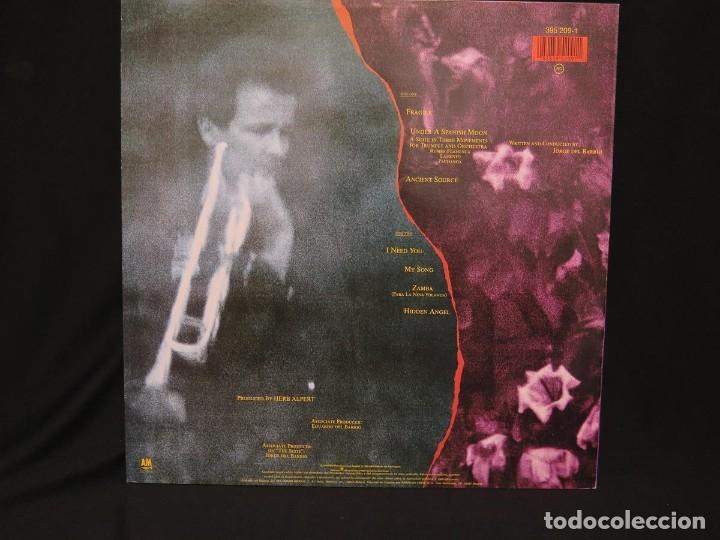 Discos de vinilo: HERB ALPERT - UNDER A SPANISH MOON (LP-Vinilo) AÑO 1988, COMO NUEVO-CALIDAD - Foto 6 - 178216845