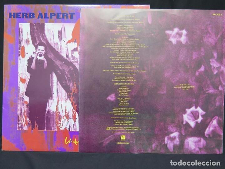 Discos de vinilo: HERB ALPERT - UNDER A SPANISH MOON (LP-Vinilo) AÑO 1988, COMO NUEVO-CALIDAD - Foto 9 - 178216845