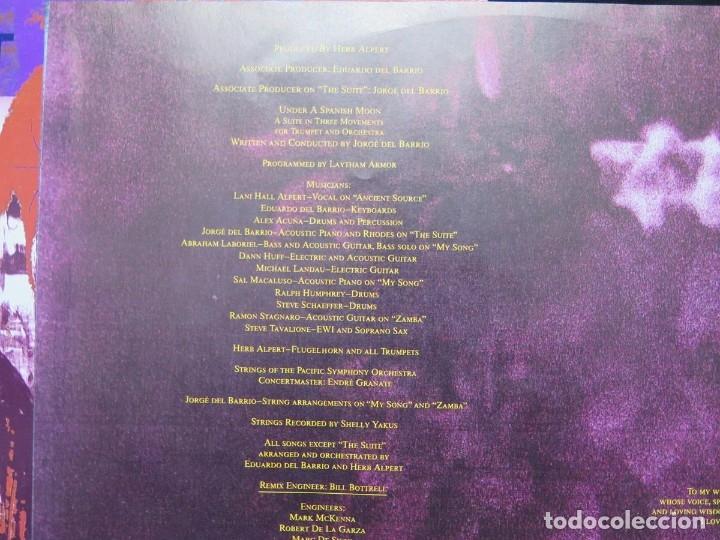 Discos de vinilo: HERB ALPERT - UNDER A SPANISH MOON (LP-Vinilo) AÑO 1988, COMO NUEVO-CALIDAD - Foto 12 - 178216845