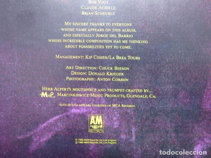 Discos de vinilo: HERB ALPERT - UNDER A SPANISH MOON (LP-Vinilo) AÑO 1988, COMO NUEVO-CALIDAD - Foto 13 - 178216845