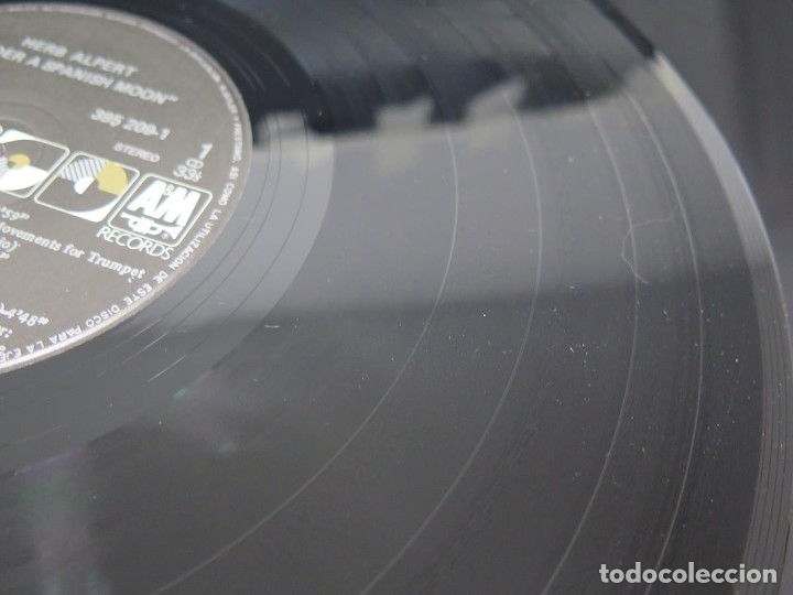 Discos de vinilo: HERB ALPERT - UNDER A SPANISH MOON (LP-Vinilo) AÑO 1988, COMO NUEVO-CALIDAD - Foto 21 - 178216845