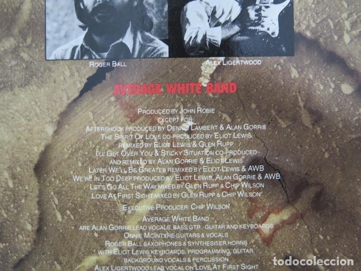 Discos de vinilo: AVERAGE WHITE BAND - AFTERSHOCK (LP-Vinilo) AÑO -1988 COMO NUEVO,CALIDAD - Foto 11 - 178218220