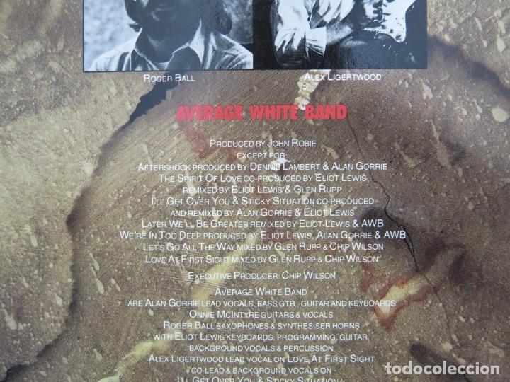 Discos de vinilo: AVERAGE WHITE BAND - AFTERSHOCK (LP-Vinilo) AÑO -1988 COMO NUEVO,CALIDAD - Foto 12 - 178218220