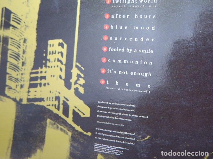 Discos de vinilo: SWING OUT SISTER - IT´S BETTER TO TRAVEL (LP-Vinilo) AÑO -1987 - COMO NUEVO,CALIDAD - Foto 11 - 178219338