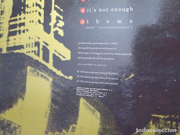Discos de vinilo: SWING OUT SISTER - IT´S BETTER TO TRAVEL (LP-Vinilo) AÑO -1987 - COMO NUEVO,CALIDAD - Foto 13 - 178219338