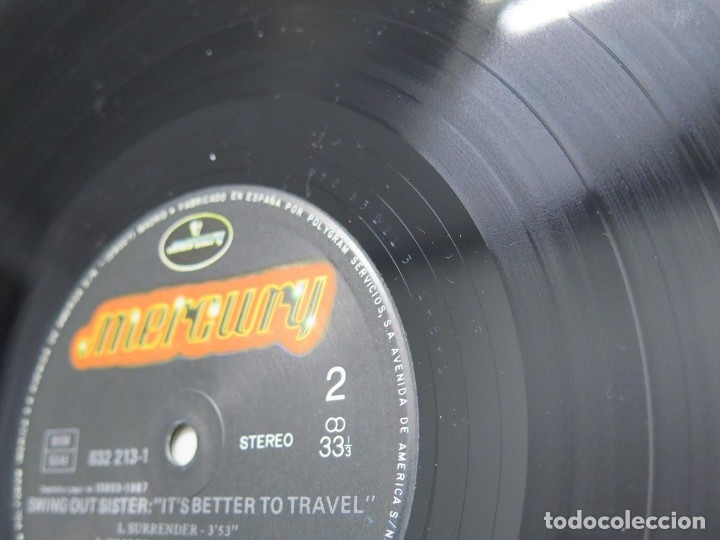 Discos de vinilo: SWING OUT SISTER - IT´S BETTER TO TRAVEL (LP-Vinilo) AÑO -1987 - COMO NUEVO,CALIDAD - Foto 14 - 178219338