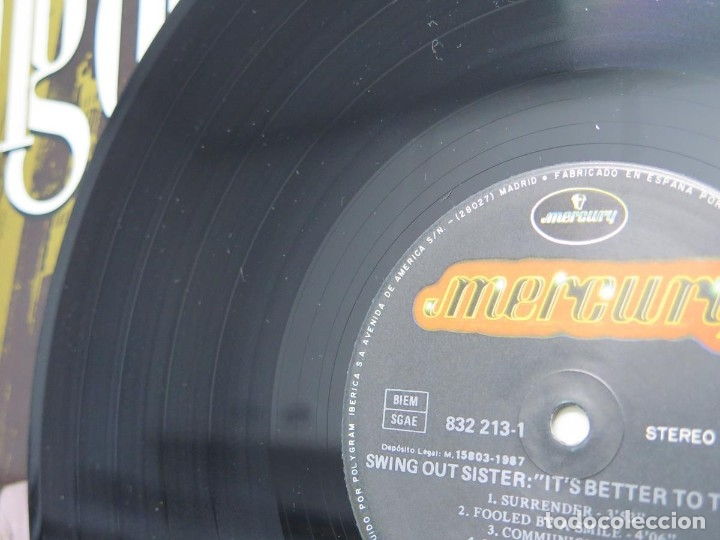 Discos de vinilo: SWING OUT SISTER - IT´S BETTER TO TRAVEL (LP-Vinilo) AÑO -1987 - COMO NUEVO,CALIDAD - Foto 18 - 178219338
