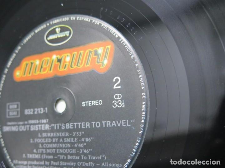 Discos de vinilo: SWING OUT SISTER - IT´S BETTER TO TRAVEL (LP-Vinilo) AÑO -1987 - COMO NUEVO,CALIDAD - Foto 21 - 178219338