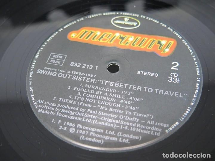 Discos de vinilo: SWING OUT SISTER - IT´S BETTER TO TRAVEL (LP-Vinilo) AÑO -1987 - COMO NUEVO,CALIDAD - Foto 25 - 178219338