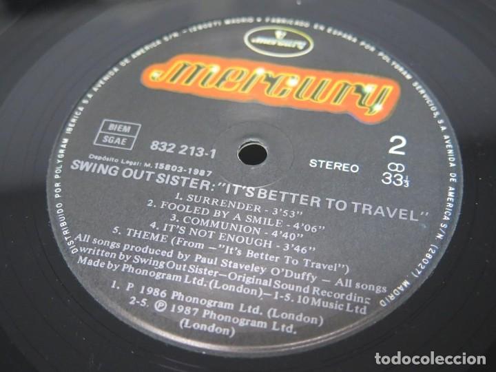 Discos de vinilo: SWING OUT SISTER - IT´S BETTER TO TRAVEL (LP-Vinilo) AÑO -1987 - COMO NUEVO,CALIDAD - Foto 31 - 178219338