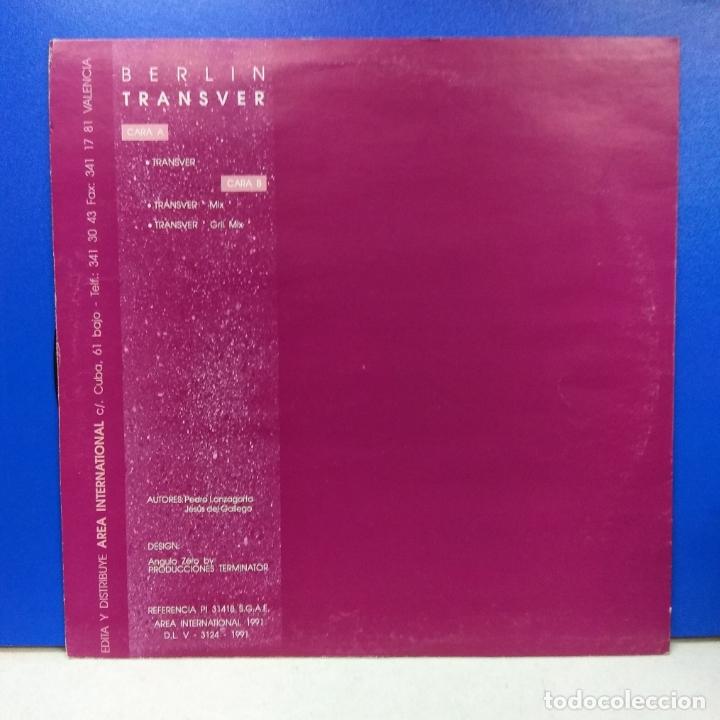 Discos de vinilo: MAXI SINGLE DISCO VINILO BERLIN TRANSVER - Foto 2 - 178219820