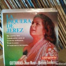 Discos de vinilo: LA PAQUERA DE JEREZ (GUITARRAS JUAN MAYA-MANOLO SANLUCAR) - MIS CUENTAS LLEVO + 3 - EP. Lote 178220951
