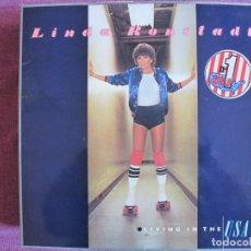 Discos de vinilo: LP - LINDA RONSTADT - LIVING IN THE USA (SPAIN, ASYLUM RECORDS 1978, PORTADA DOBLE). Lote 178224375