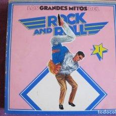 Discos de vinilo: LP - LOS GRANDES MITOS DEL ROCK AND ROLL VOL. 1 - VARIOS (SPAIN, ABC RECORDS 1977). Lote 178226175