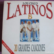 Discos de vinilo: LP - LOS CINCO LATINOS - 20 GRANDES CANCIONES (DOBLE DISCO, SPAIN, EPIC 1990). Lote 178233506
