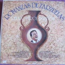Discos de vinilo: LP - PEDRO TEROL - ROMANZAS DE ZARZUELAS (SPAIN, GRAMUSIC 1976). Lote 178233706