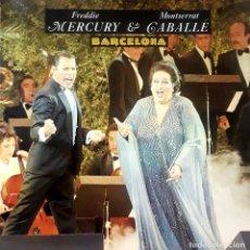 Discos de vinilo: FREDDIE MERCURY & MONTSERRAT CABALLÉ - BARCELONA. Lote 178234026