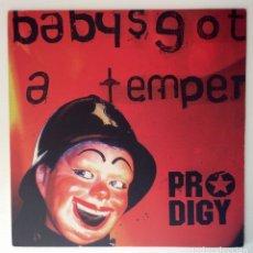 Discos de vinilo: PRODIGY BABYS GOT A TEMPER VINILO MAXI MAIN MIX DUB INSTRUMENTAL. Lote 178239520