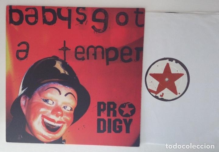 Discos de vinilo: PRODIGY BABYS GOT A TEMPER vinilo Maxi Main Mix Dub Instrumental - Foto 3 - 178239520