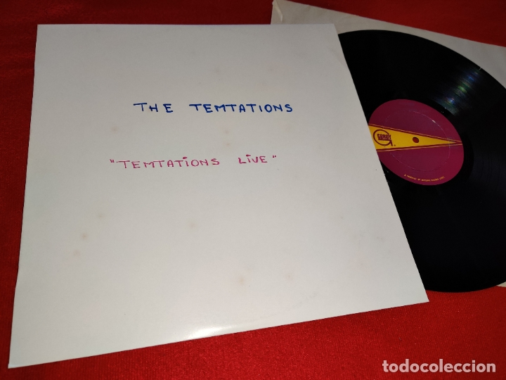 THE TEMPTATIONS TEMPTATIONS LIVE LP 1967 GORDY USA (Música - Discos - LP Vinilo - Funk, Soul y Black Music)