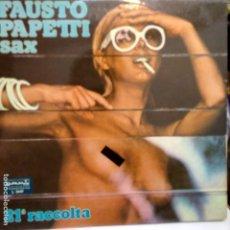 Discos de vinilo: FAUSTO PAPETTI SAX-EROTIC COVER-CENSURADA-. Lote 178246980